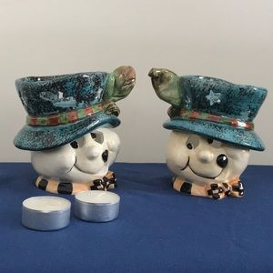 Ghost Head New Orleans Top Hat Tea Lights set of 2